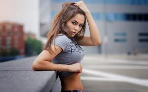Картинка city, girl, model, look, grey eyes, Weronika Jezierska, Marco De Santis