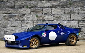 Картинка Italy, blue, race car, 1972, Lancia Stratos