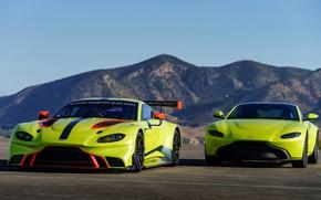 Картинка Aston Martin, Vantage, пара, гоночное авто, 2018, GTE
