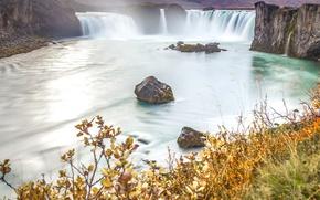 Картинка река, водопад, Исландия