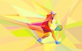 Картинка игра, вектор, спортсмен, теннис