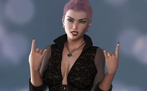 Картинка девушка, панк, руки
