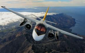 Обои пейзаж, полет, кабина, самолет