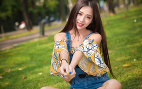 Картинка лето, улыбка, азиатка, милашка