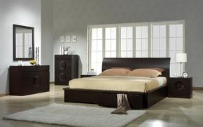 Картинка дизайн, мебель, кровать, интерьер, спальня