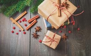Картинка украшения, елка, апельсин, Новый Год, Рождество, подарки, корица, happy, Christmas, vintage, wood, orange, New Year, ...