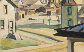 Картинка Houses, 1917, Charles Ephraim Burchfield