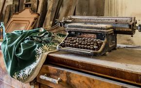 Обои стол, фон, пишущая машинка