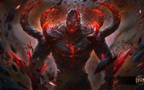 Картинка магия, монстр, hon, голем, Heroes of Newerth, Adrenaline