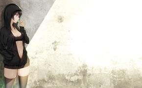 Картинка девушка, черные волосы, art, чупа-чупс, tokki