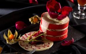 Картинка сладость, выпечка, Тортик