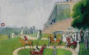 Картинка масло, холст, 1920, Кес ван Донген, Загон в Довиле