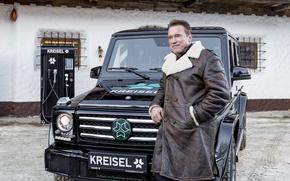 Картинка Арнольд Шварценеггер, Мерседес-Бенц, Arnold Schwarzenegger, Mercedes- Benz, Крайзель, Электрический внедорожник, Kreisel Electric