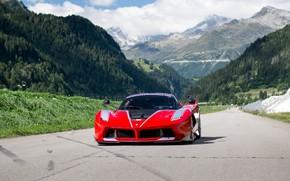 Обои гоночный трек, Ferrari, FXX K, горы