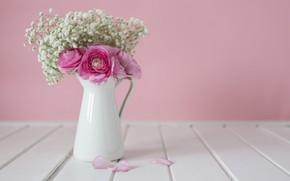 Картинка цветы, фон, букет, ваза, flowers, background, vase, bouquet
