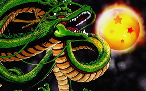 Обои фантастика, змей, рисунок, дракон, луна, живопись, картинка, арт, фон