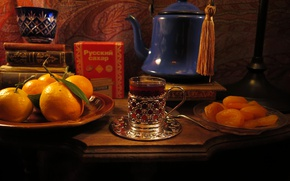 Картинка чай, апельсин, кружка, напиток