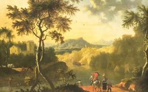 Картинка масло, картина, Итальянский Пейзаж, Timotheus de Graef
