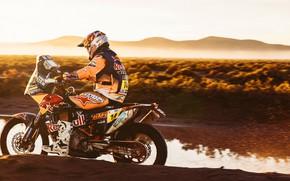 Картинка Спорт, Скорость, Мотоцикл, Гонщик, Мото, KTM, Rally, Dakar, Дакар, Ралли