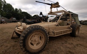 Обои machine gun, Chenowth, motorbike, Chenowth Advanced Light Strike Vehicle