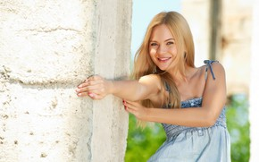 Картинка девушка, радость, улыбка, милая, волосы, красивая, Talia