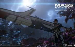 Картинка корабль, планета, скафандр, Electronic Arts, Tempest, Bioware, Ryder, 2017, Mass Effect: Andromeda