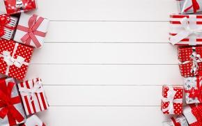 Картинка Новый Год, Рождество, wood, merry christmas, decoration, gifts, xmas, holiday celebration