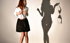 Обои тень, Shadowplay, девушка, игра