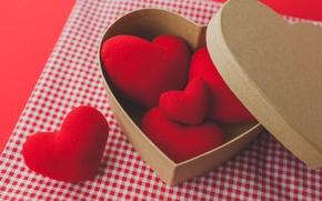 Картинка red, love, romantic, hearts, valentine's day, gift