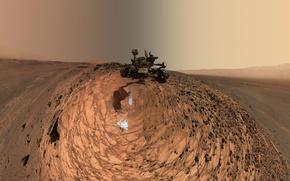 Обои планета, Марс, НАСА, марсоход, Кьюриосити, Марсианская научная лаборатория
