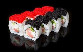 Картинка фон, икра, суши, роллы