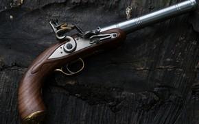 Картинка макро, Queen Anne pistol, кремневый, Пистолет королевы Анны