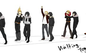 Картинка аниме, парни, друзья, Boku no Hero Academia, Aizawa Shouta, Present Mic