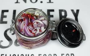 Картинка Лук, Банка, Pickled onion, Маринованный лук