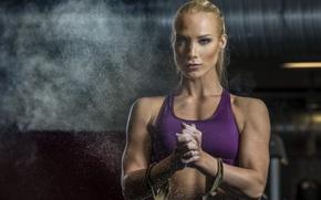 Обои Fitness, девушка, спорт
