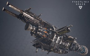Картинка транспорт, корабль, борт, Fractured Space, USR Ghost