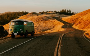 Обои Дорога, Volkswagen, Калифорния, Автомобиль, Сан - Франциско