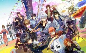 Картинка alien, anime, dog, samurai, ninja, assassin, manga, shinobi, Gintama, japanese, kimono, kunoichi, Gintoki, shinsengumi