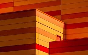 Картинка цвета, линии, город, тепло, здание