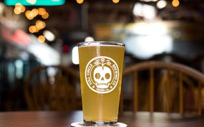 Картинка стакан, череп, пиво