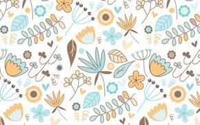 Обои фон, текстура, узор, вектор, цветы
