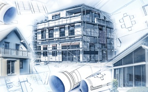 Обои design, architecture, Construction, engineering, plans, projects