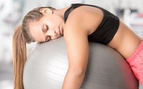 Картинка female, fitness, tiredness, Fatigue