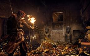 Картинка game, Assassin's Creed, bow, shield, arrow, Assassin's Creed Origins