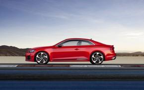 Картинка Audi, German, Red, RS5, 2018, Track, RS, A5