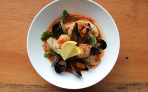 Картинка tomatoes, greens, shrimp, Seafood, Mollusk, seafood soup, mussels, Oysters, Seasoning, Parsley, Sauce