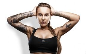 Картинка tattoo, portrait, addidas, WET