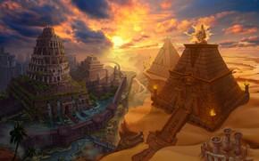 Картинка башни, пирамиды, Pyramid-Babylon Card
