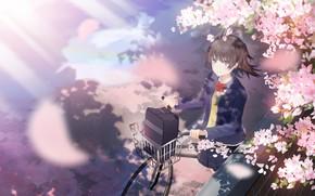 Картинка девушка, велосипед, весна
