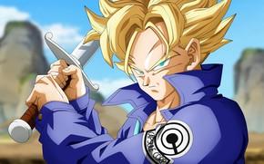 Картинка DBS, sword, game, anime, ken, blade, asian, manga, oriental, asiatic, Dragon Ball, Saiyan, Trunks, Super …